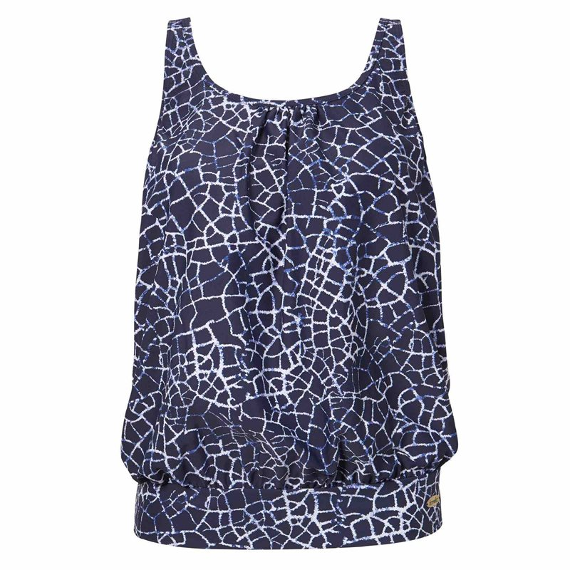 Cate Tankini Navy Crackle