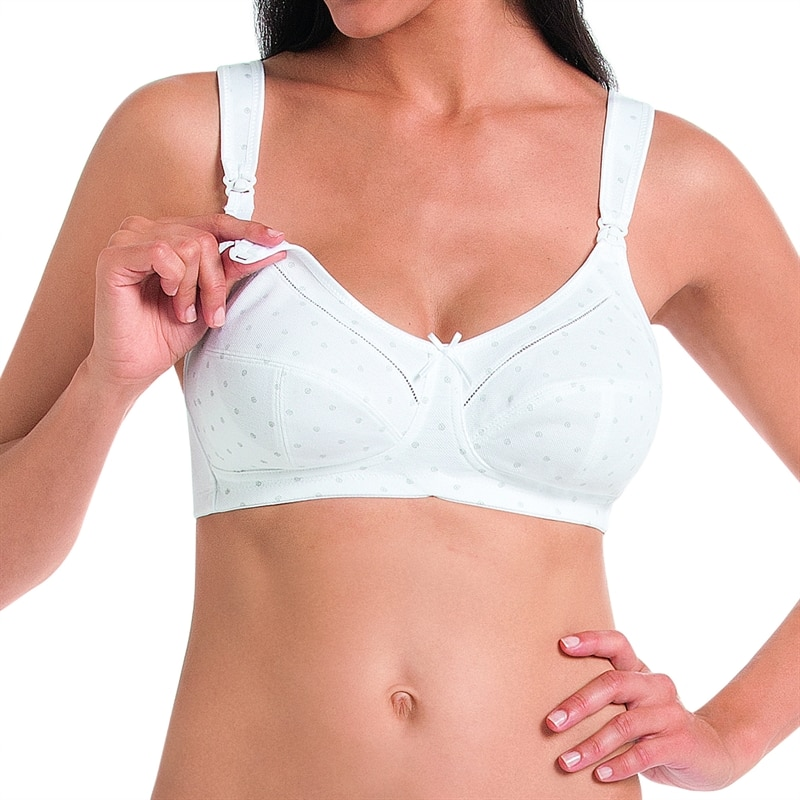 Anita Amnings-bh Miss Cotton Bh 5055 Pearl White i 70% bomull ... f8278f99738d6