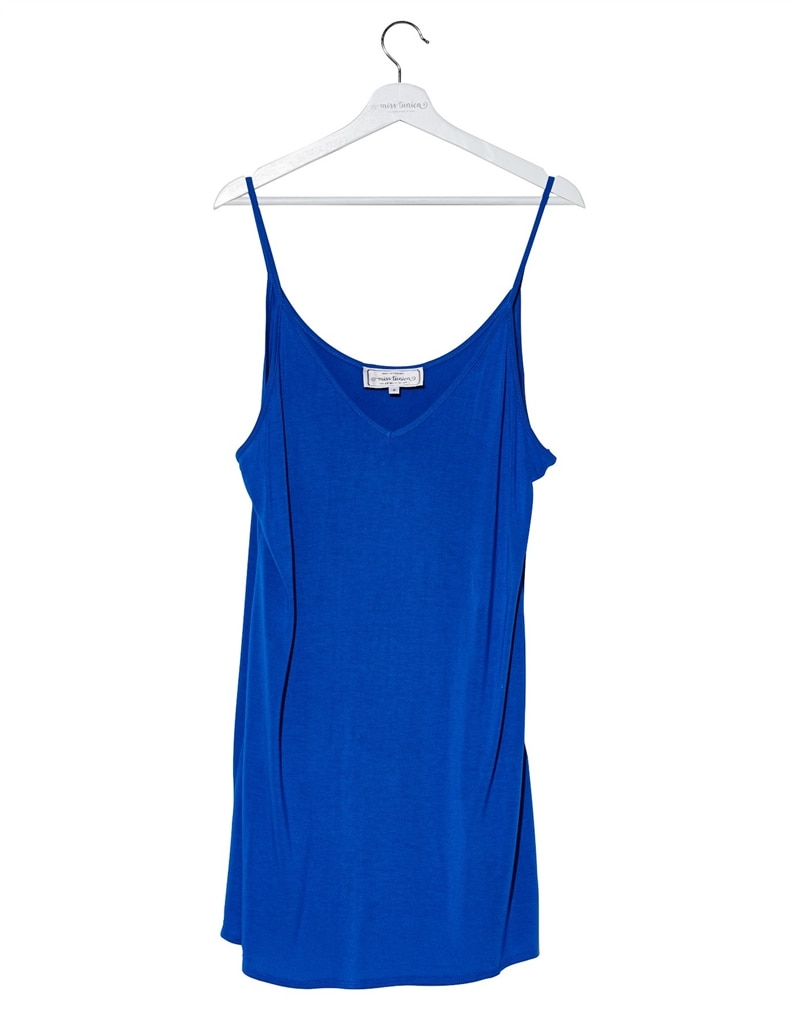 Slip Dress Medium Underklänning Ibiza Blue