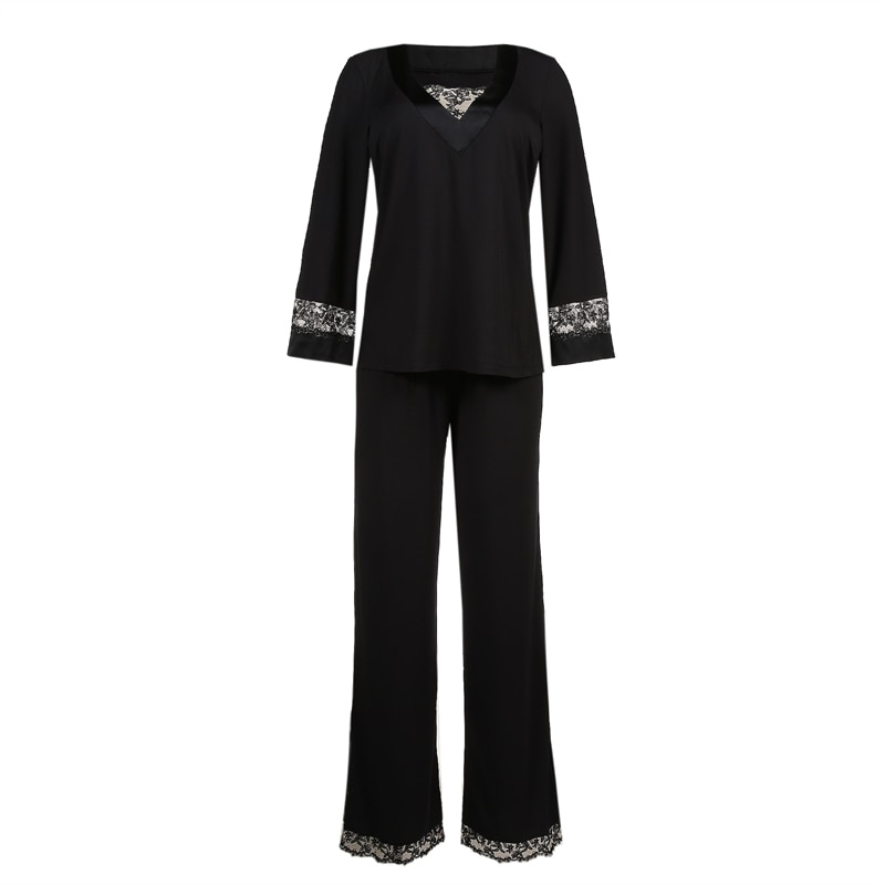 primadonna homewear soie belle pyjamas black lace modal silk mix exclusive 2019 0862960ZWA_4