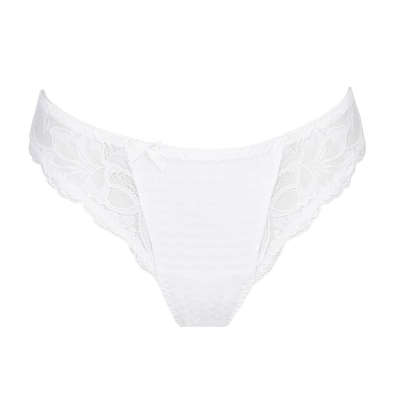 primadonna madison baskollektion string modell white vit rutig monster spets vacker 0662120_WIT