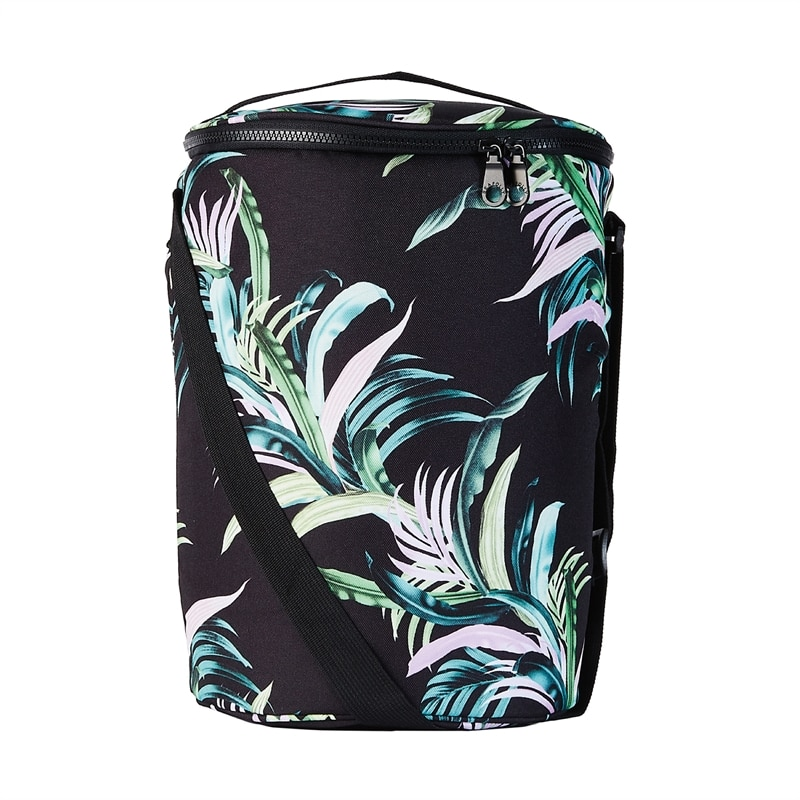seafolly Las Palmas Cooler Black tropical pattern green pastell pink 71428-BGBlack_1