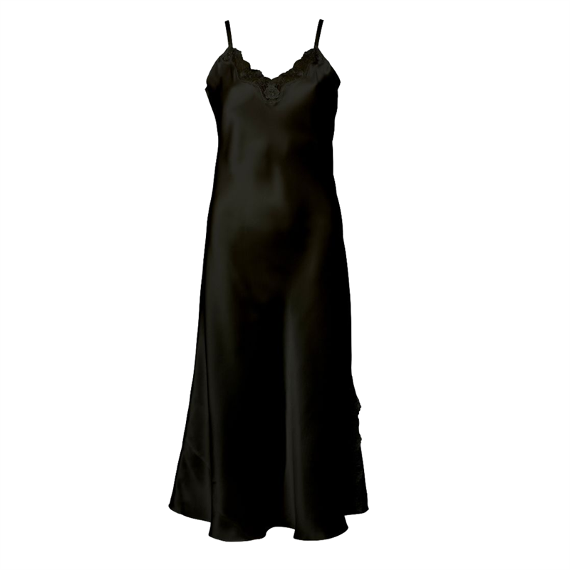 silkesnattlinne Lady Avenue Slipdress Pure Silk Nattlinne Black 27-80805-02